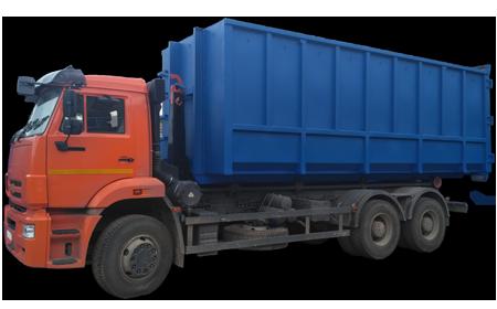 вывоз мусора контейнером 27 м3